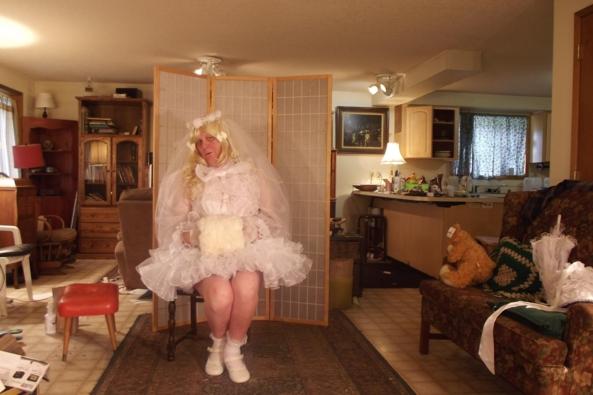 Li'le Bride - my super virgin wear, sissy,crossdress,, Feminization,Holiday,Dolled Up,Wedding,Sissy Fashion