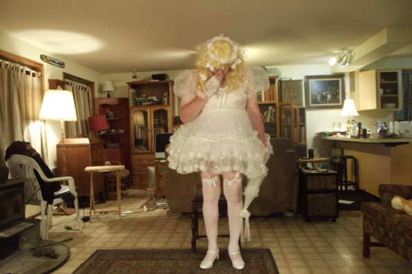 my communion dress - feeling quite virginal, sissy,dress-up, Holiday,Dolled Up