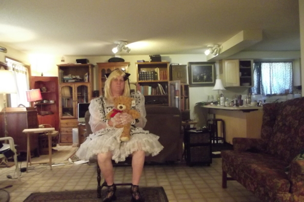 All Maid Up - Teddy is feeling bold, sissy,maid,, Feminization,Dolled Up