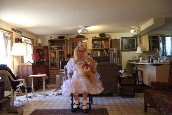 Lavender and Lace - Teddy and I , sissy,lavender,, Feminization,Dolled Up
