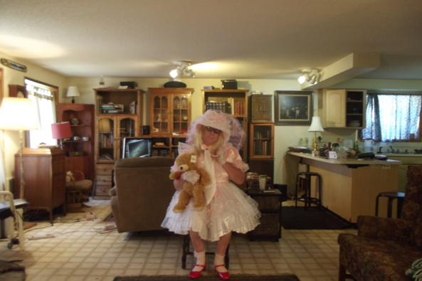 Prim and Propper - Teddy and me in Gossamer , sissy,crossdress,, Feminization,Dolled Up,Sissy Fashion