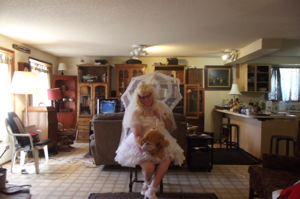 Prissy in virgin white - my first holy communion dress (and veil), sissy,bridal,crossdress,, Feminization,Dolled Up,Sissy Fashion,Holiday