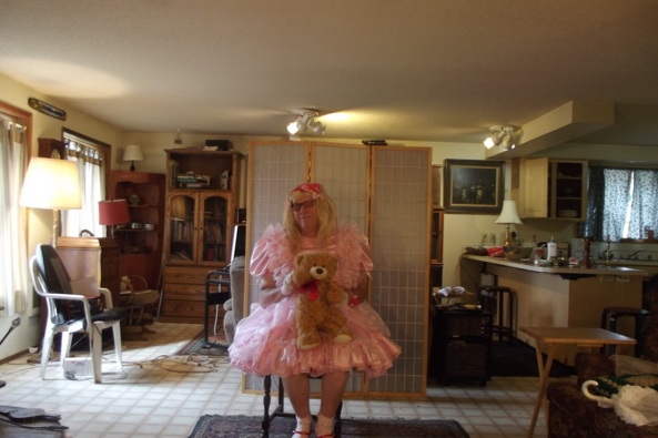 and I am still in pink - I have so many pink dresses, sissy,crossdress,lg,pink, Feminization,Dolled Up,Sissy Fashion