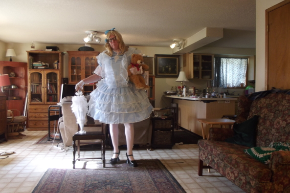 My one Prom Dress - made by Aunt D, sissy,crossdress,, Feminization,Sissy Fashion,Holiday,Dolled Up