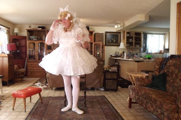 My Little Bride Look, sissy,little bride,wedding,crossdress,, Feminization,Dolled Up,Holiday,Wedding,Sissy Fashion
