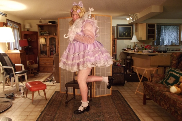 a Lavender Morning - I feel well, extra prissy in this number, sissy,crossdress, Feminization,Dolled Up,Sissy Fashion