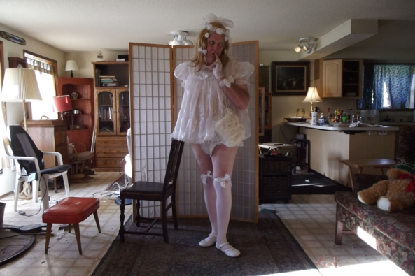 Its a Whole New Year!  - I decided to start the year fresh innocent and virginal., siss,crossdress,, Adult Babies,Holiday,Dolled Up,Sissy Fashion,Wedding
