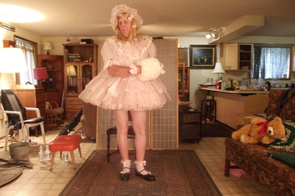 My most prissy baby dress - Teddy likes me this way, sissy,crossdress, Adult Babies,Feminization,Dolled Up,Sissy Fashion