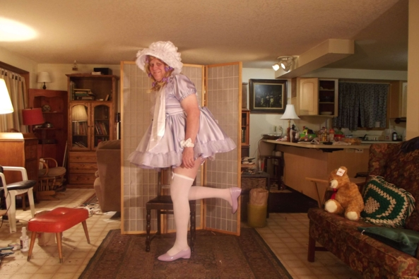 Lavender little Lady - just me and Teddy, sissy,crossdress,little girl,, Feminization,Sissy Fashion
