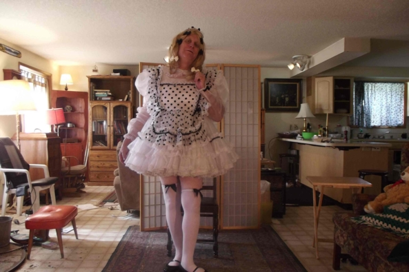 A MAID IN BEDLAM - please see the posted video.  See Source:, sissy maid,sissy,coressdress,, Feminization,Dolled Up,Sissy Fashion