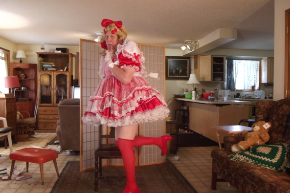 My OTHER Red Dress, sissy,crossdress,, Feminization,Sissy Fashion,Dolled Up
