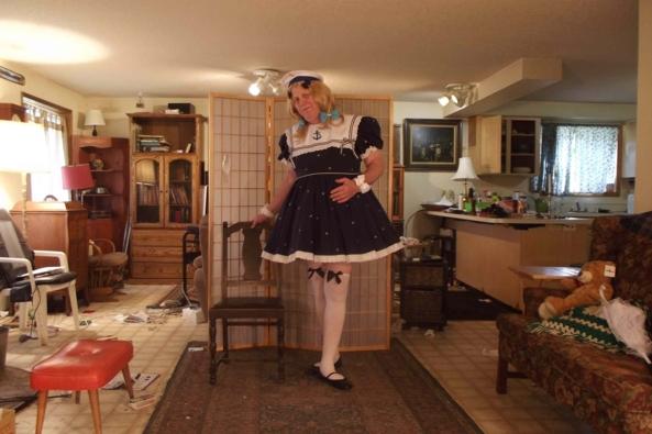 Being Nautically Naughty   - or something, sissy,crossdress,schoolgirl,, Feminization,Sissy Fashion