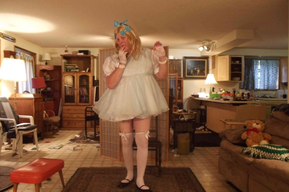 My Baby Blue Dress - a simple blue dress with matching panties/diaper covers, sissy,crossdress, Feminization,Sissy Fashion