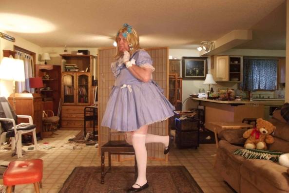 I call this my Butterfly Dress, sissy,crossdress,, Feminization,Sissy Fashion