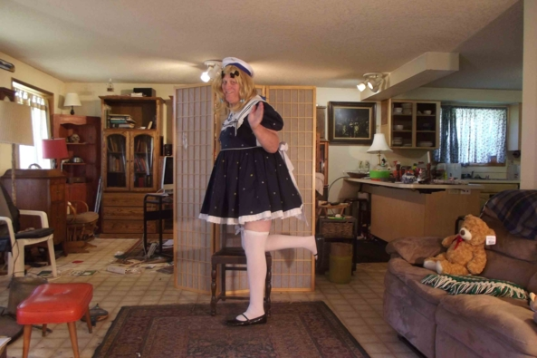 Anchor Baby? - my Schoolgirl Sailor Suit , sissy,sailor,crossdress,schoolgirl, Feminization,Sissy Fashion