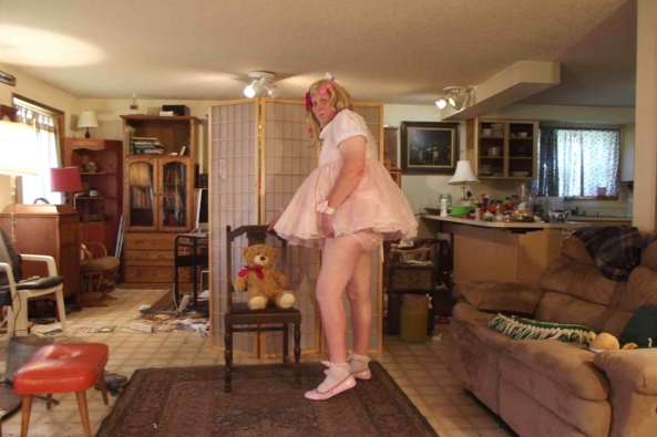 My VERY little girl pink  dress - LG but not baby.  I don't NEED diapers!  I'm a BIG girl.  Mama says so!, sissy,crossdress,, Adult Babies,Feminization,Sissy Fashion