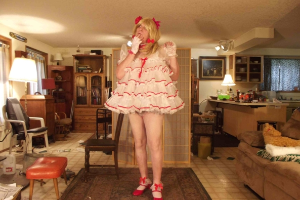 Christmas in April - my holiday baby dress, sissy baby,cross dress,, Adult Babies,Feminization,Holiday,Dolled Up,Sissy Fashion