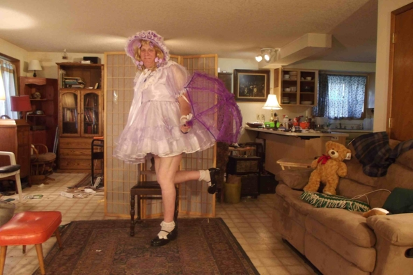 I love Lavender - My new purple  parasol, sissy,crossdress,parisol,, Feminization,Dolled Up,Sissy Fashion