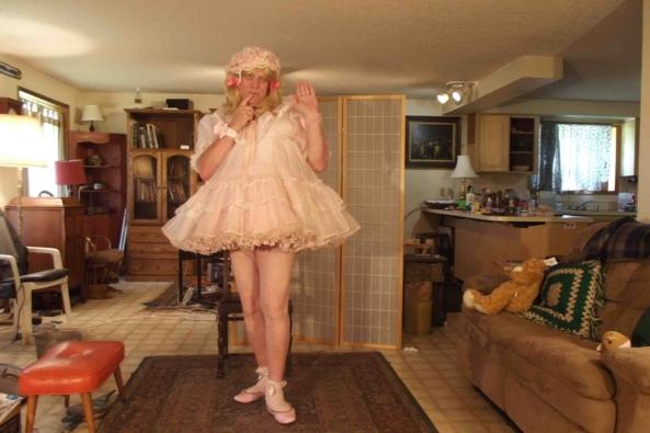 a prissy baby dress, sissy,crossdress,, Adult Babies,Feminization,Dolled Up,Sissy Fashion