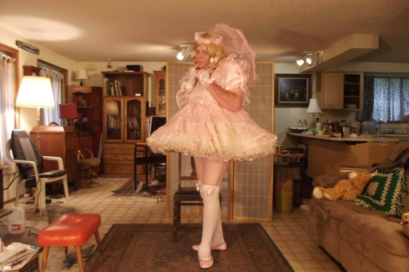 Prissy Pink in a Plethora of Petticoats, sissy,crossdress,petticoat,, Feminization,Dolled Up,Sissy Fashion