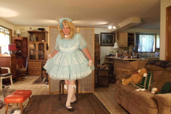 my new Glamorous Dress - I bought a new dress, sissy,crossdress,, Feminization,Dolled Up,Sissy Fashion