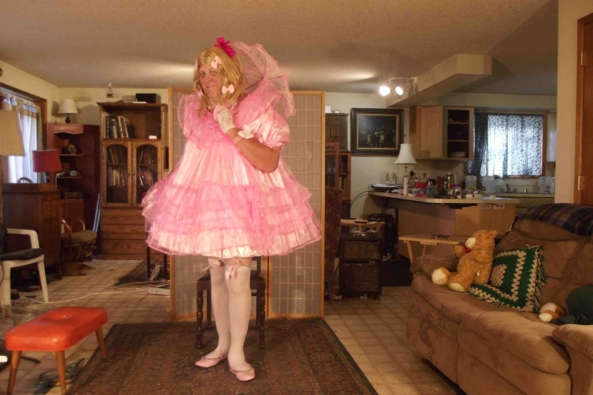 in the Pink - my sugar and spice baby dress, sissy,crossdress,, Feminization,Adult Babies,Dolled Up,Sissy Fashion