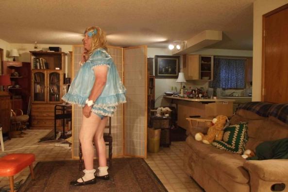 Baby blue, sissy,crossdress,, Adult Babies,Sissy Fashion