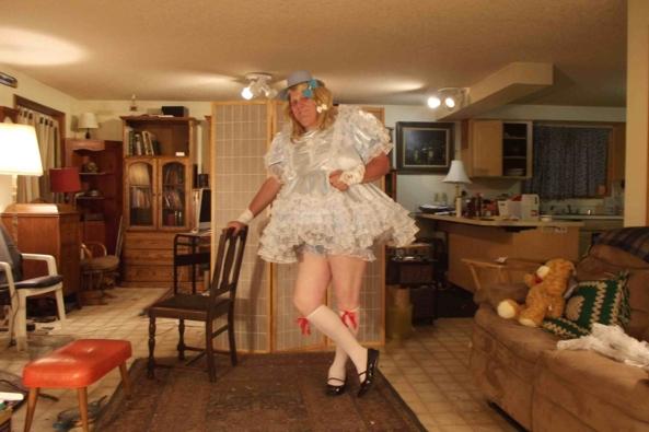 Nights in Blue Satin, sissy,crossdress,, Feminization,Dolled Up,Sissy Fashion