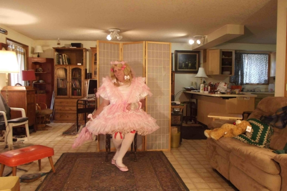 Sugar and Spice and..... - I am trying for my most gum-drop sweet sissy look.  Did I do it?, sissy,crossdress,, Feminization,Sissy Fashion,Holiday,Dolled Up,Fairytale