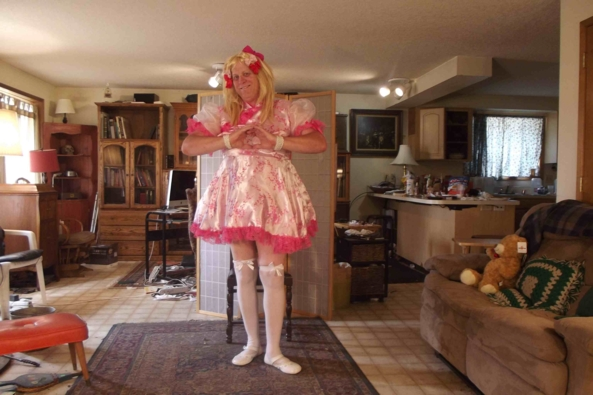 Ready for my Orientation - a Chinese Silk Dress, sissy,crossdress,, Feminization,Dolled Up,Sissy Fashion