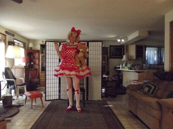polka dots are fun, sissy,crossdress,, Feminization,Dolled Up,Sissy Fashion