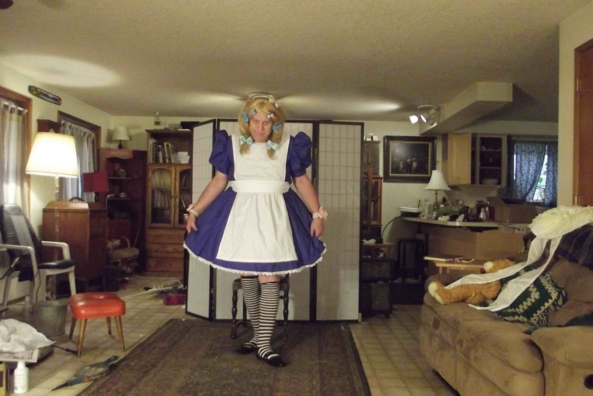 oh frabjous day callooh callay! - I got a new dress, sissy,Alice,Crossdress,, Feminization,Sissy Fashion,Magical Change,Dolled Up