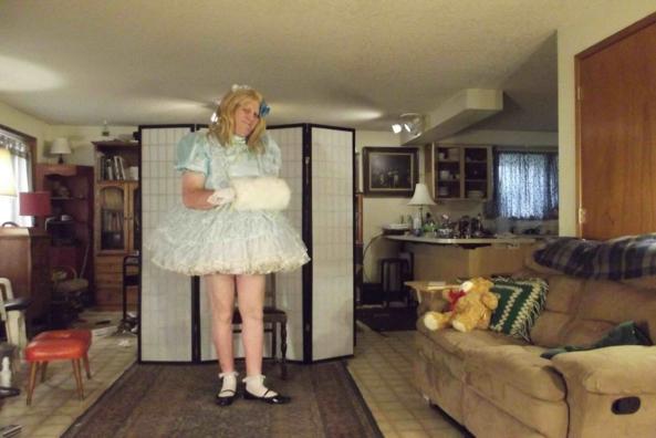 Blue, but Frilly, sissy,prissy,crossdress, Feminization,Dolled Up,Sissy Fashion