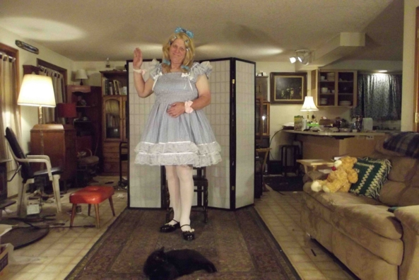 My new Sun Dress - the USPS Fairy blessed me with my latest, sissy,cross,dress,, Feminization,Sissy Fashion