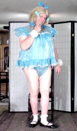 Baby's got da blues...., sissy,crossdress, Adult Babies,Dolled Up,Sissy Fashion