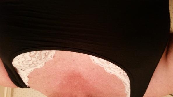 Pink peeking