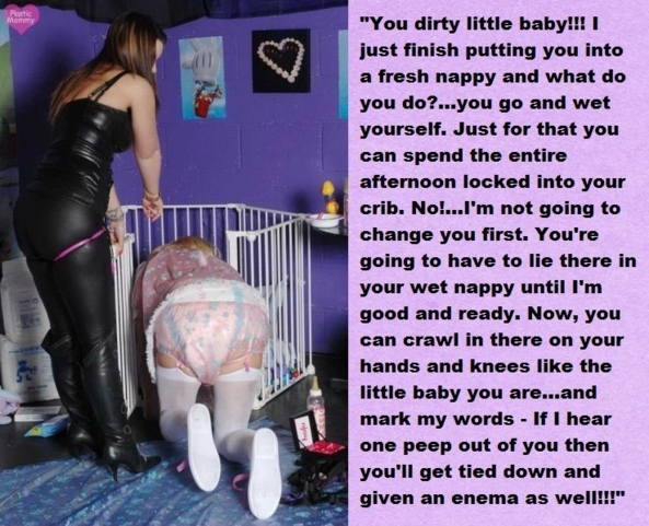 Two more punishment cappies - There's one for a frilly sissy and one for a sissy baby but both are being very naughty!, captions,sissy,sissy baby,punishment,humiliation, Adult Babies,Feminization,Dominating Mistress Or Master,Humiliation,Diaper Lovers,Bad Boy To Good Girl,Bondage,Dolled Up