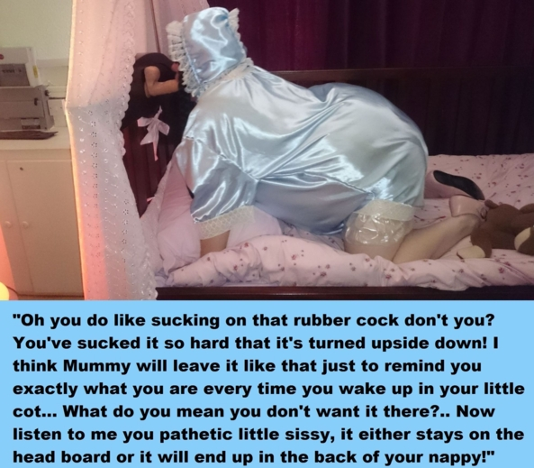 Another two cappies! - Two more captions featuring very humiliated sissies. I've done them as dialogue again, I hope you enjoy them. Many thanks!, captions,humiliation,adult baby,sissy baby, Adult Babies,Feminization,Dominating Mistress Or Master,Humiliation,Diaper Lovers,Spankings