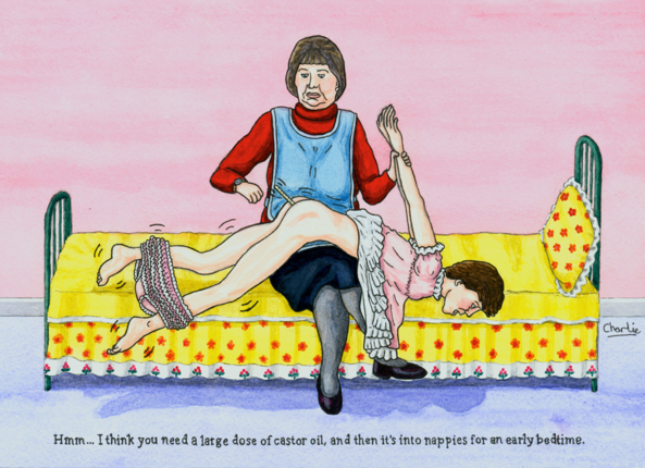Some of Charlie's naughty baby punishment art - Great art by Charlie, Charlie,art,sissy baby,punished,naughty,baby clothes, Adult Babies,Dominating Mistress Or Master,Humiliation,Breast Feeding,Diaper Lovers