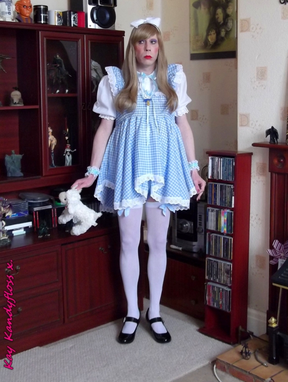Little Girl Blue - All in baby blue. Wearing my new dress - with a big nappy and matching plastic panties of course (giggles). A wonderful gift from my darling girl Sarah. xxx, Sissy,sissybaby,sissy girl,nappy,diaper,plastic panties,dress,, Adult Babies,Feminization,Diaper Lovers,Dolled Up,Sissy Fashion,Dominating Mistress Or Master