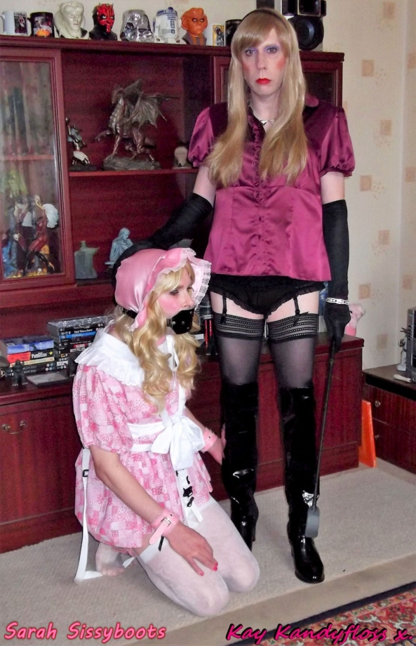 Auntie Kay and her naughty little nappied pansy Sarah - Here I am with a very naughty girl who doesn't deserve big girl panties - now Sarah is dressed correctly I can administer the strict discipline she needs!, plastic panties,nappies,punishment,domination,mistress,Sissy baby,gag, Adult Babies,Diaper Lovers,Bondage,Dolled Up,Dominating Mistress Or Master