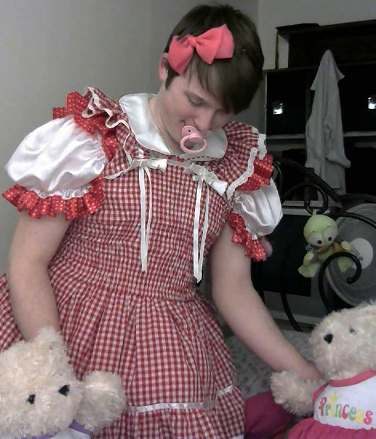 Play Time - Playing in my crib, diaper,dress,sissy,baby, Adult Babies,Feminization