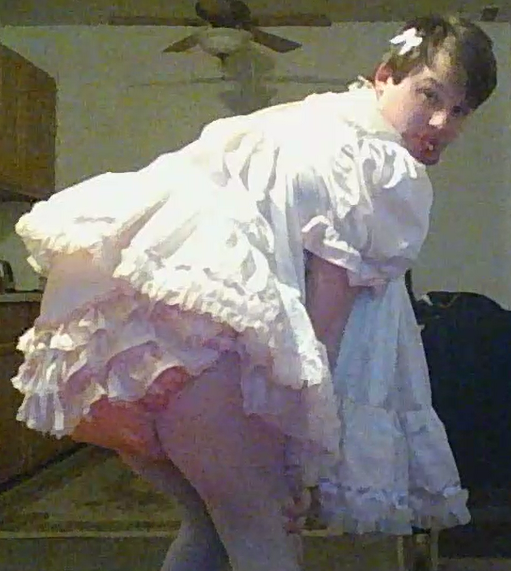 Diaper Tushy - 1st, diaper,dress,sissy,baby, Adult Babies