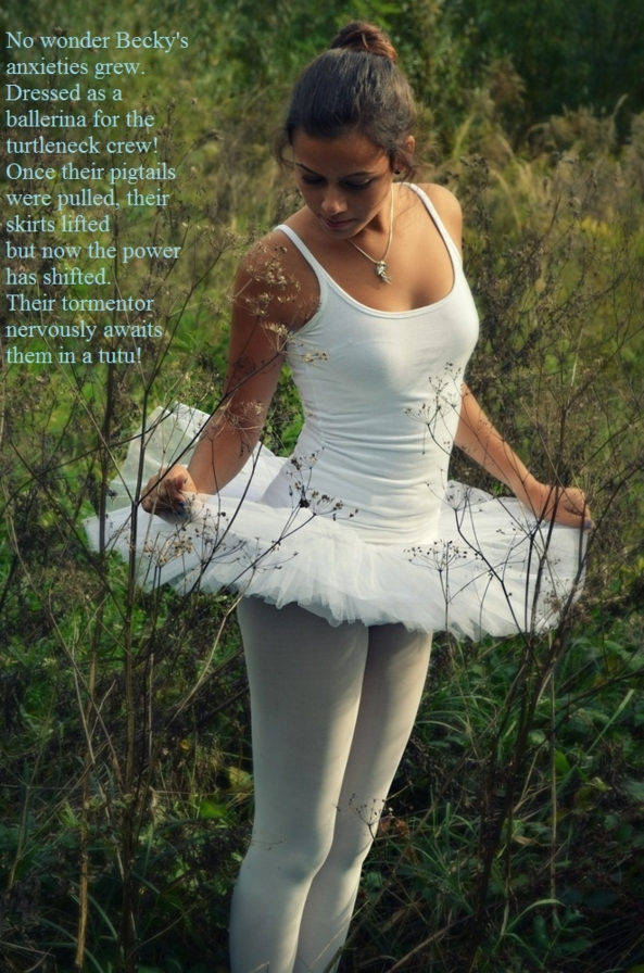 Ballerina Bex Meets The Turtlenecks (part 2) - Bex's first public outing.., Ballet,tutu,tights,forced feminisation , Feminization,Humiliation,Bad Boy To Good Girl,Dolled Up