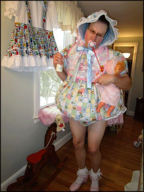 OK You Big Sissy Stay Dressed Forever! - No Bathroom Only Your Diaper Now!, cd/dl Crossdresser Sissy, Adult Babies,Feminization,Sissy Fashion,Fairytale,Diaper Lovers,Dolled Up