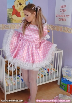 Completely Dressed & Diapered - Head To Toe Sissyfied!, AB/DL Sissy Crossdresser, Adult Babies,Feminization,Sissy Fashion,Diaper Lovers,Dolled Up