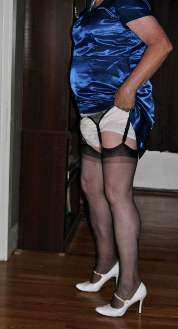 Satin Dress, Crossdresser Diaper AB DL, Feminization,Adult Babies,Sissy Fashion,Diaper Lovers,Dolled Up