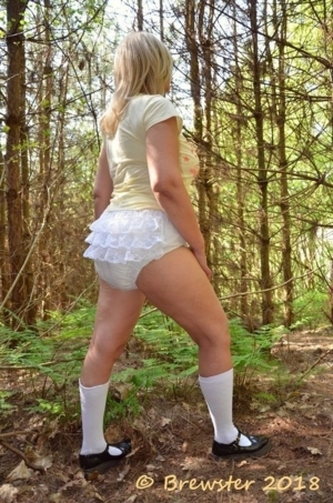 Look at the Big Sissy In Diapers & a Dress - Oh The Humiliation! I Love It!, AB/DL Sissy Crossdresser, Adult Babies,Feminization,Sissy Fashion,Diaper Lovers,Dolled Up