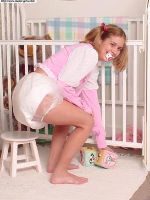 Always Diapered - Loving It!, AB/DL Sissy Crossdresser, Adult Babies,Feminization,Sissy Fashion,Diaper Lovers,Dolled Up