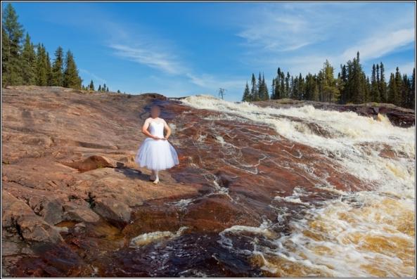 Romantic tutu 1 - Waterfall - Part 2, ballet,ballerina,sissy,outdoor,tutu,romantic,river,waterfall, Sissy Fashion,Body Suits,Fairytale